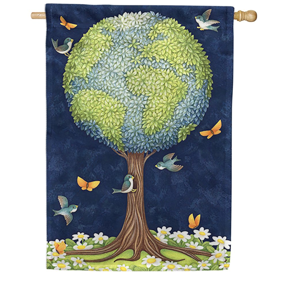 Earth Tree House Flag