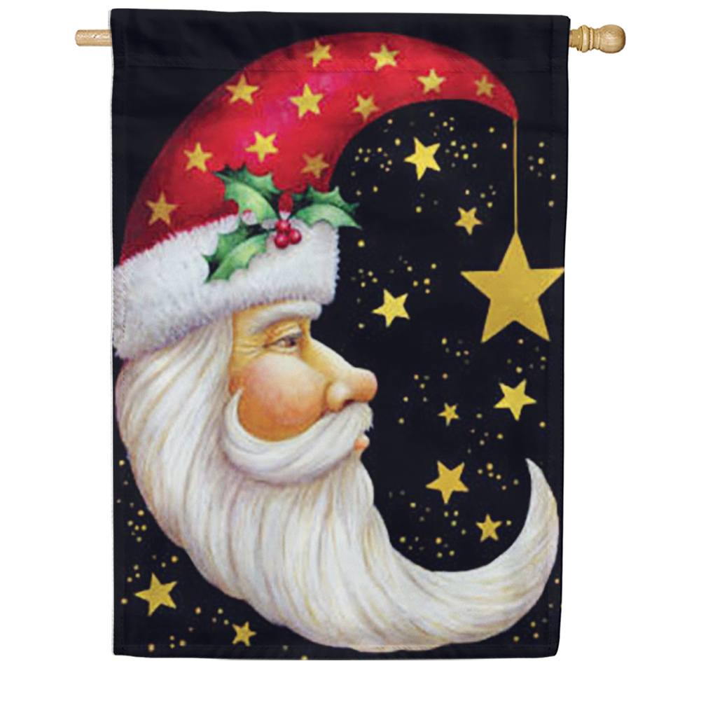 Santa Moon House Flag