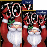 Santa Joy Flags Set (2 Pieces)