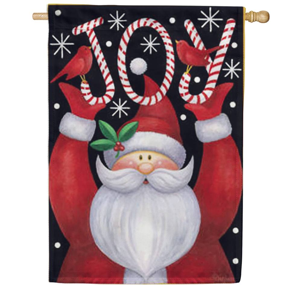 Santa Joy House Flag