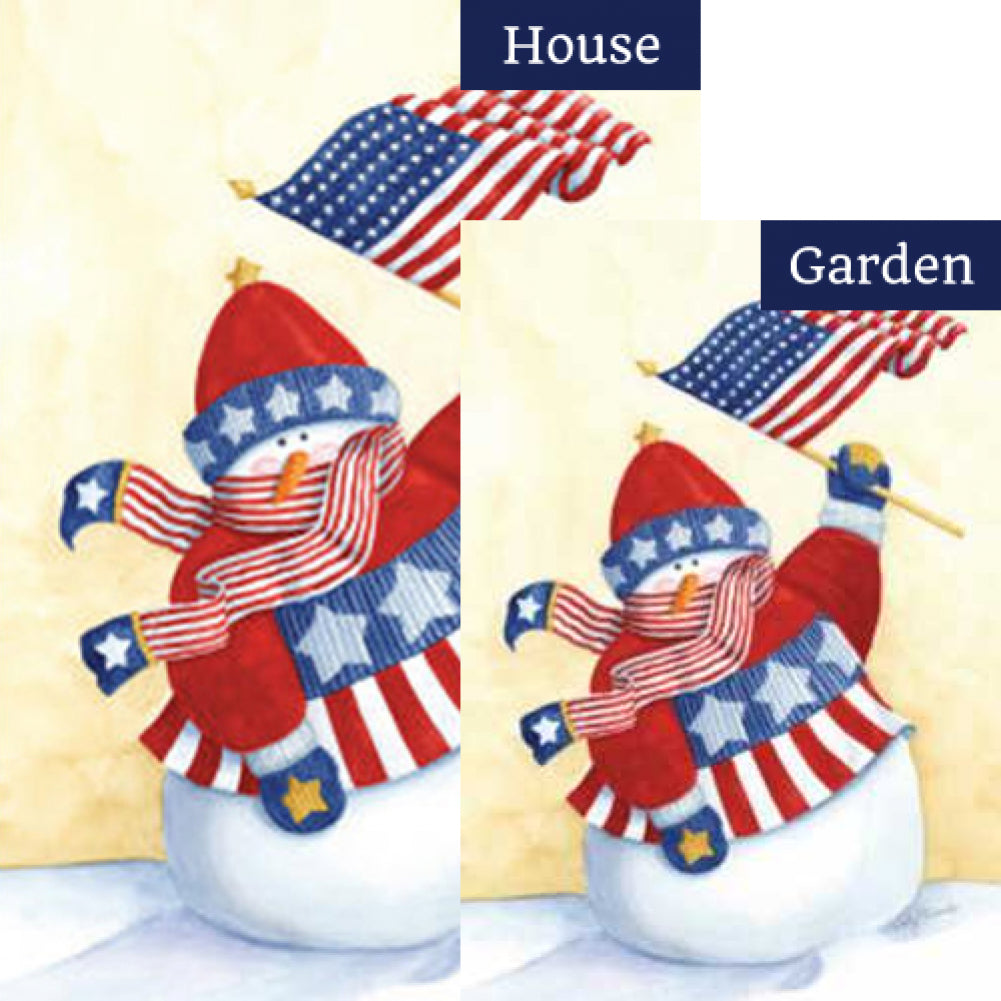 Star Spangled Snowman Flags Set (2 Pieces)
