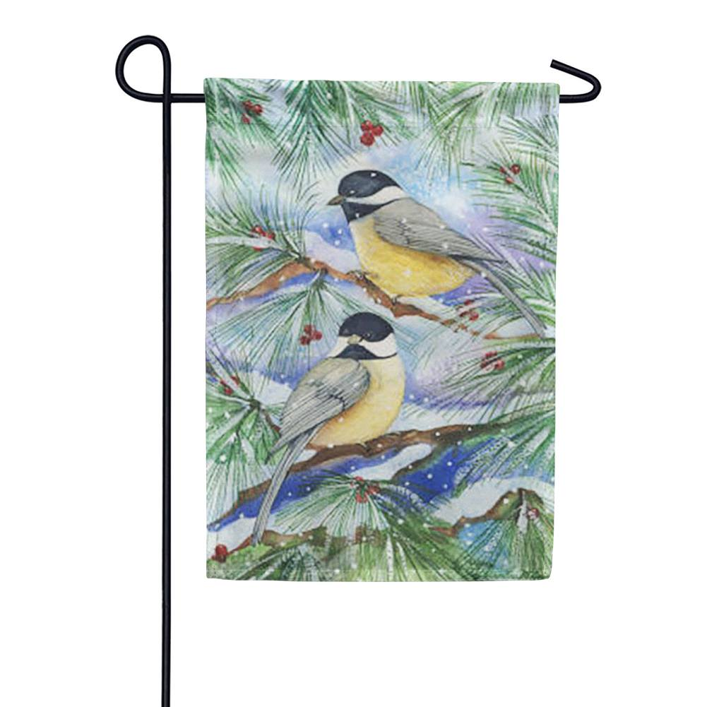 Snowy Birds Garden Flag