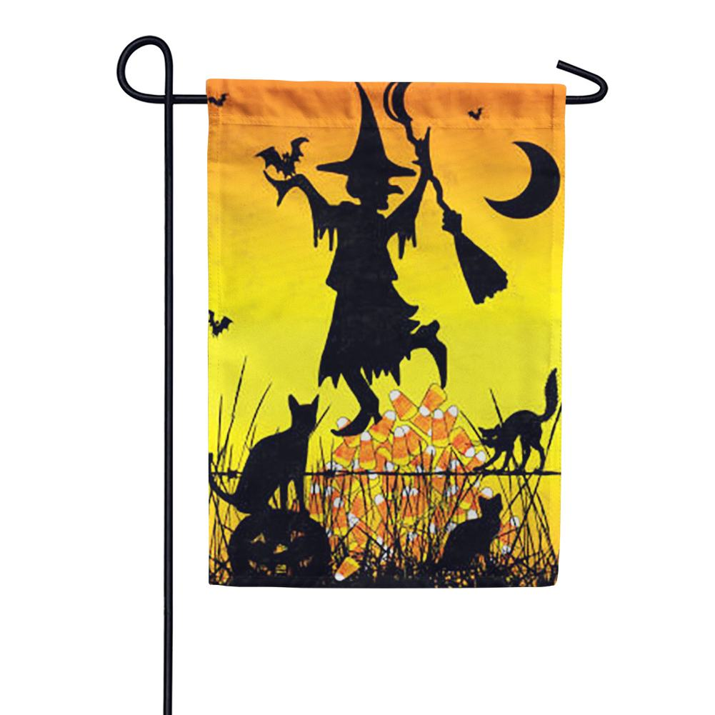 Candy Corn Witch Garden Flag
