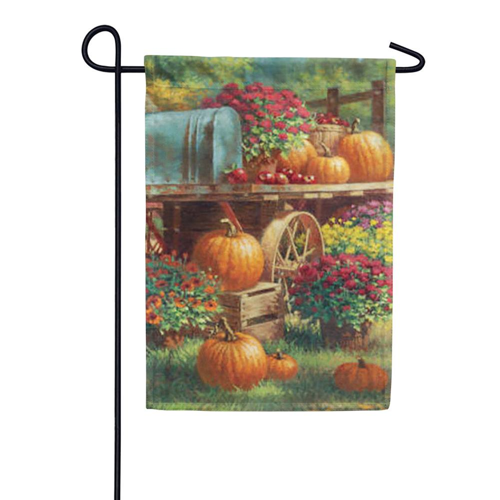 Farm Pumpkin Garden Flag
