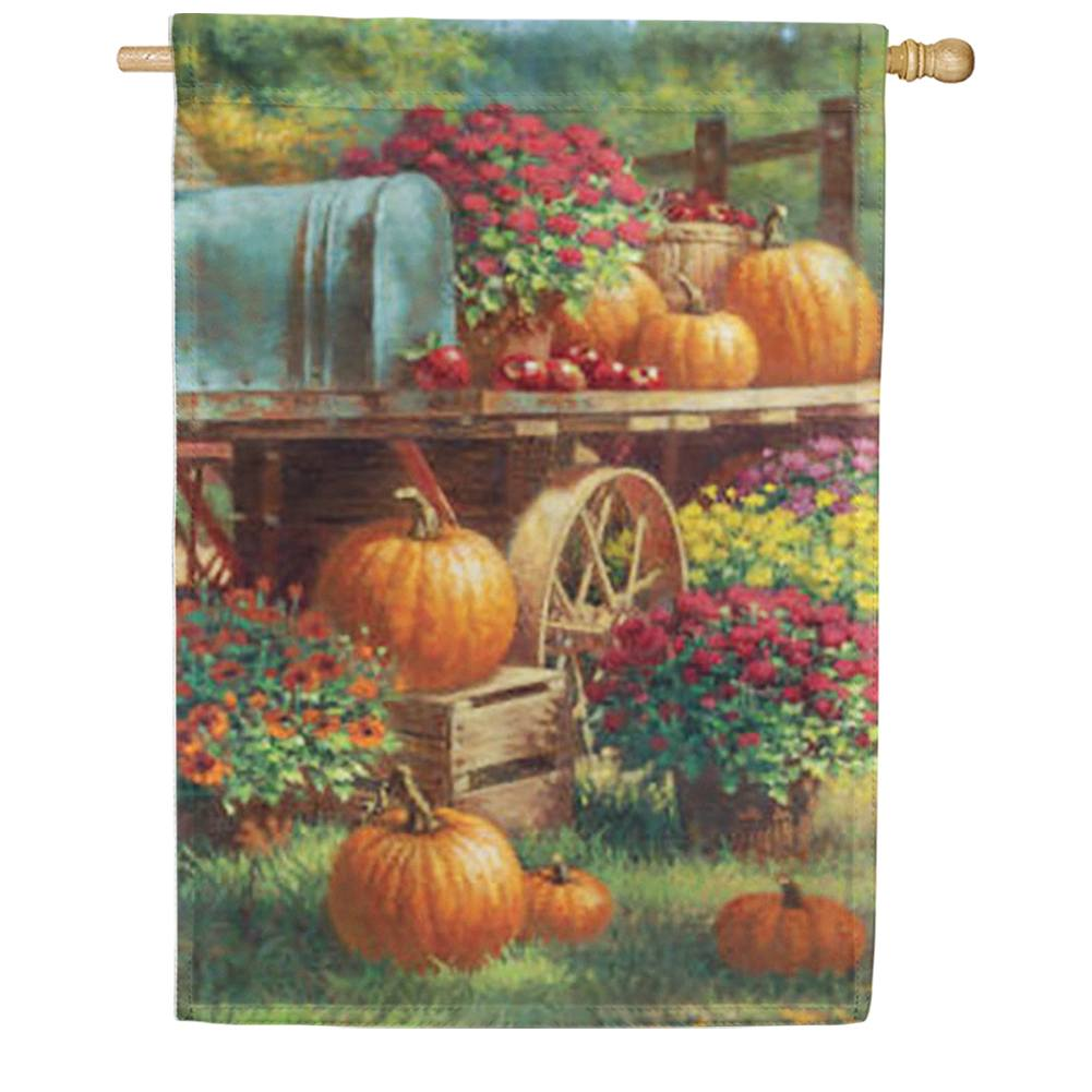 Farm Pumpkin House Flag