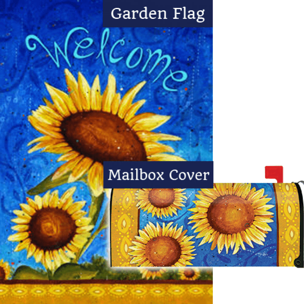 Sweet Sunflowers Flag Mailwrap Set (2 Pieces)