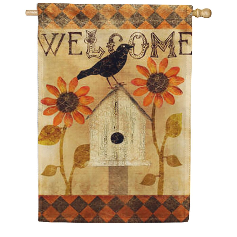 Harlequin Crow House Flag