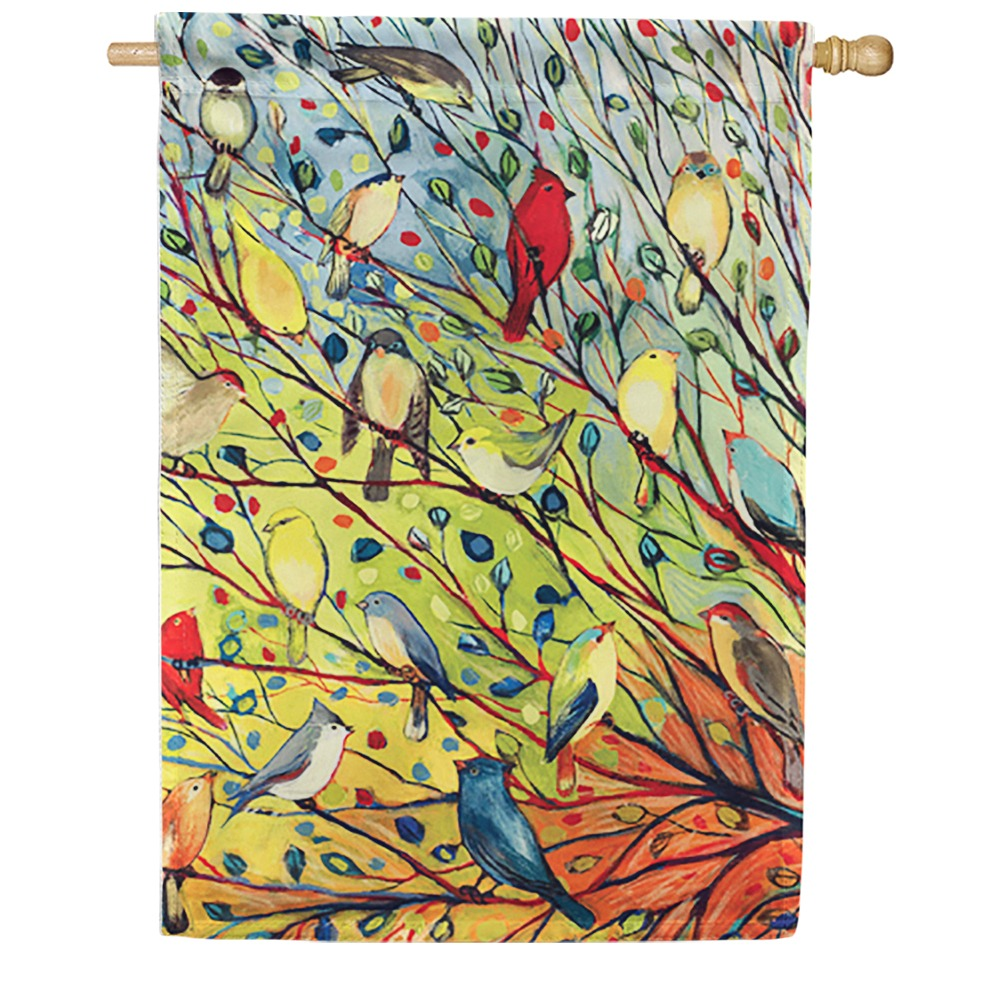 Tree Birds House Flag
