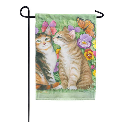 Kissing Kitties Garden Flag