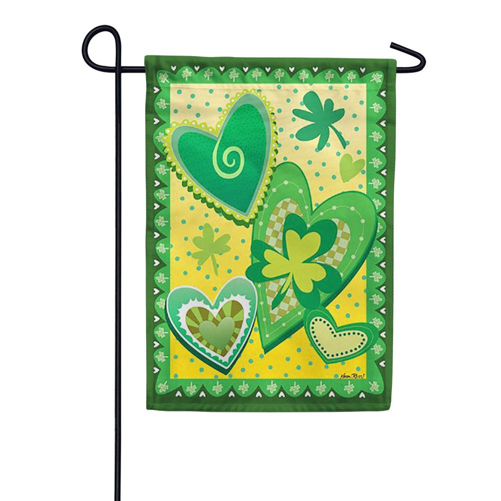 Heart O' the Irish Garden Flag