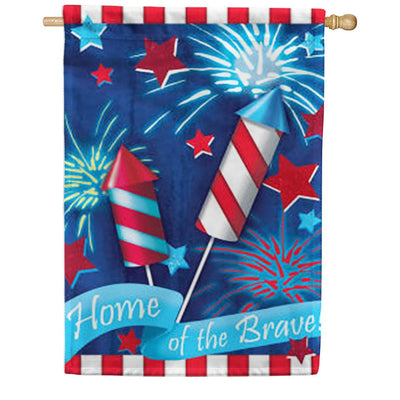 Home of the Brave House Flag