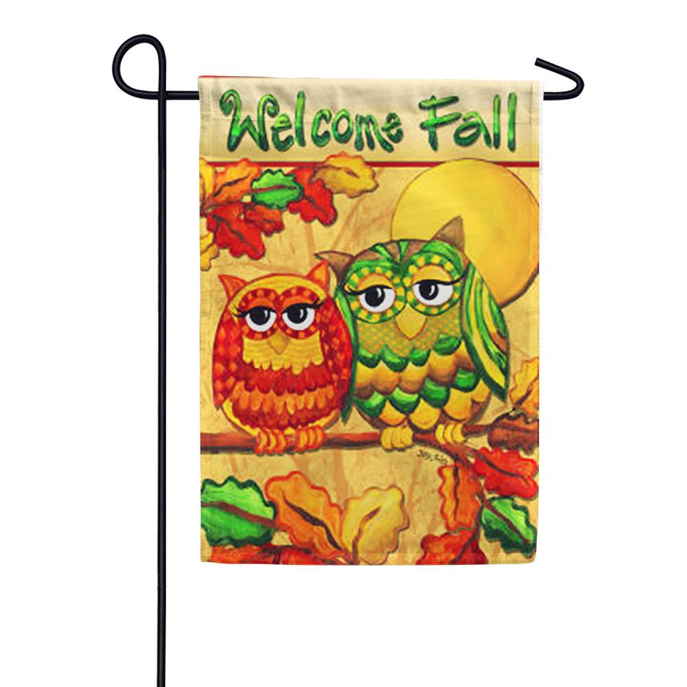 Fall Owls Welcome Garden Flag