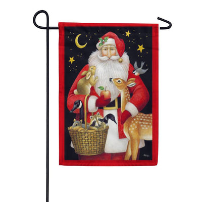 Santa's Friends Garden Flag