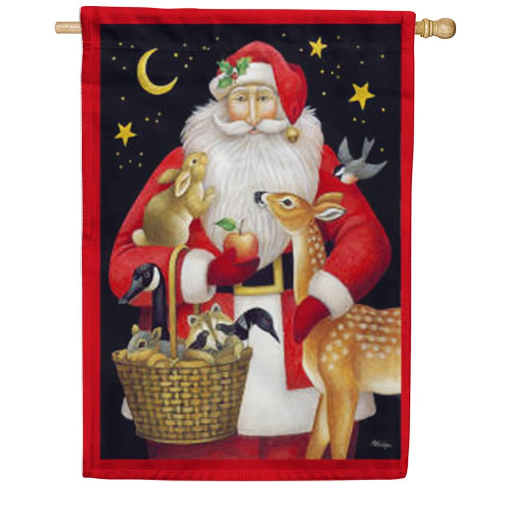 Santa's Friends House Flag