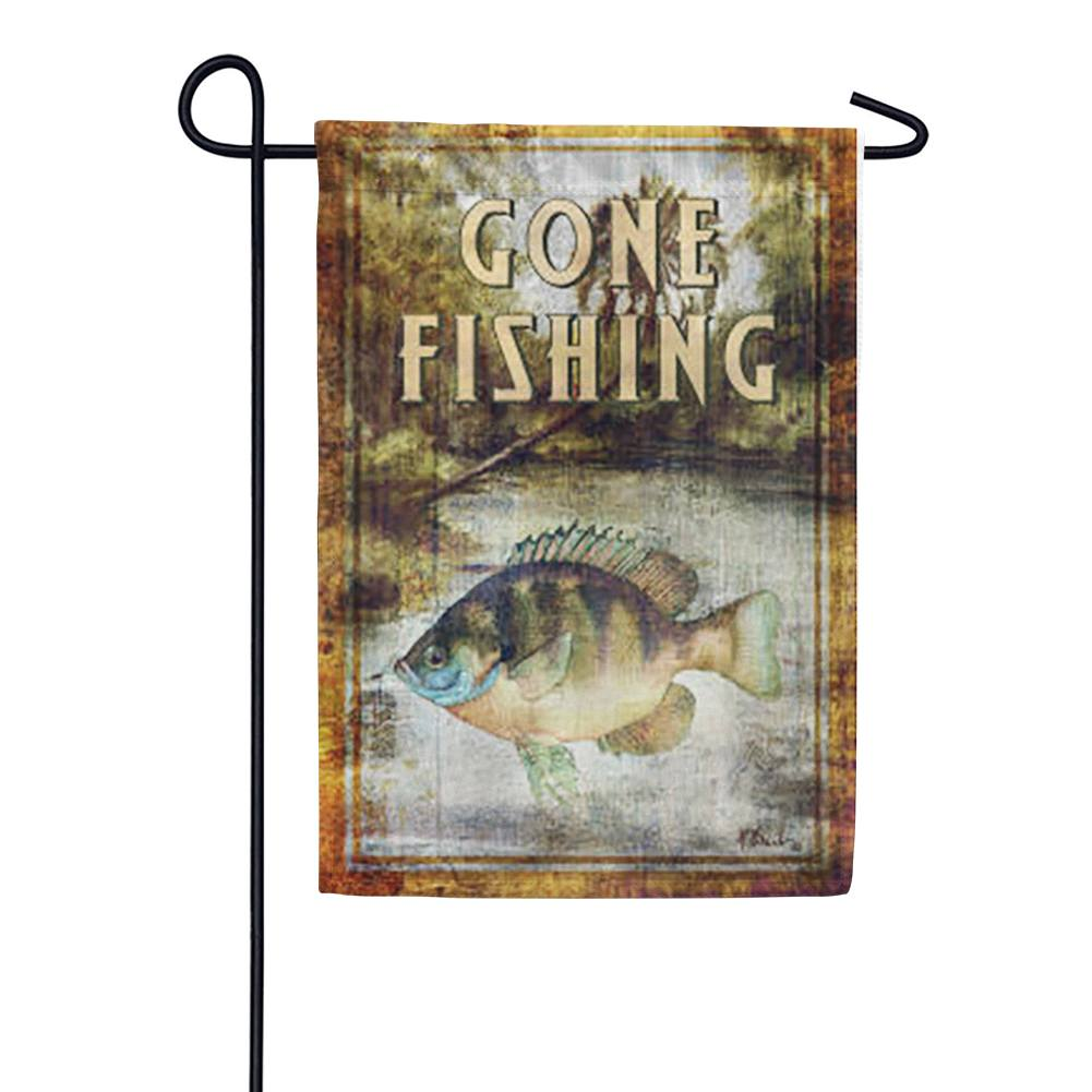 Bluegill Fishing Garden Flag