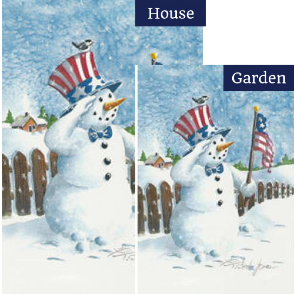 Uncle Patriotic Snowman Flags Set (2 Pieces)