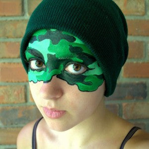 Camoflauge Mask Design and an Intro to Tints and Shades!