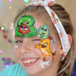 Angry Birds Face Paint Design by Natalia Kirillova