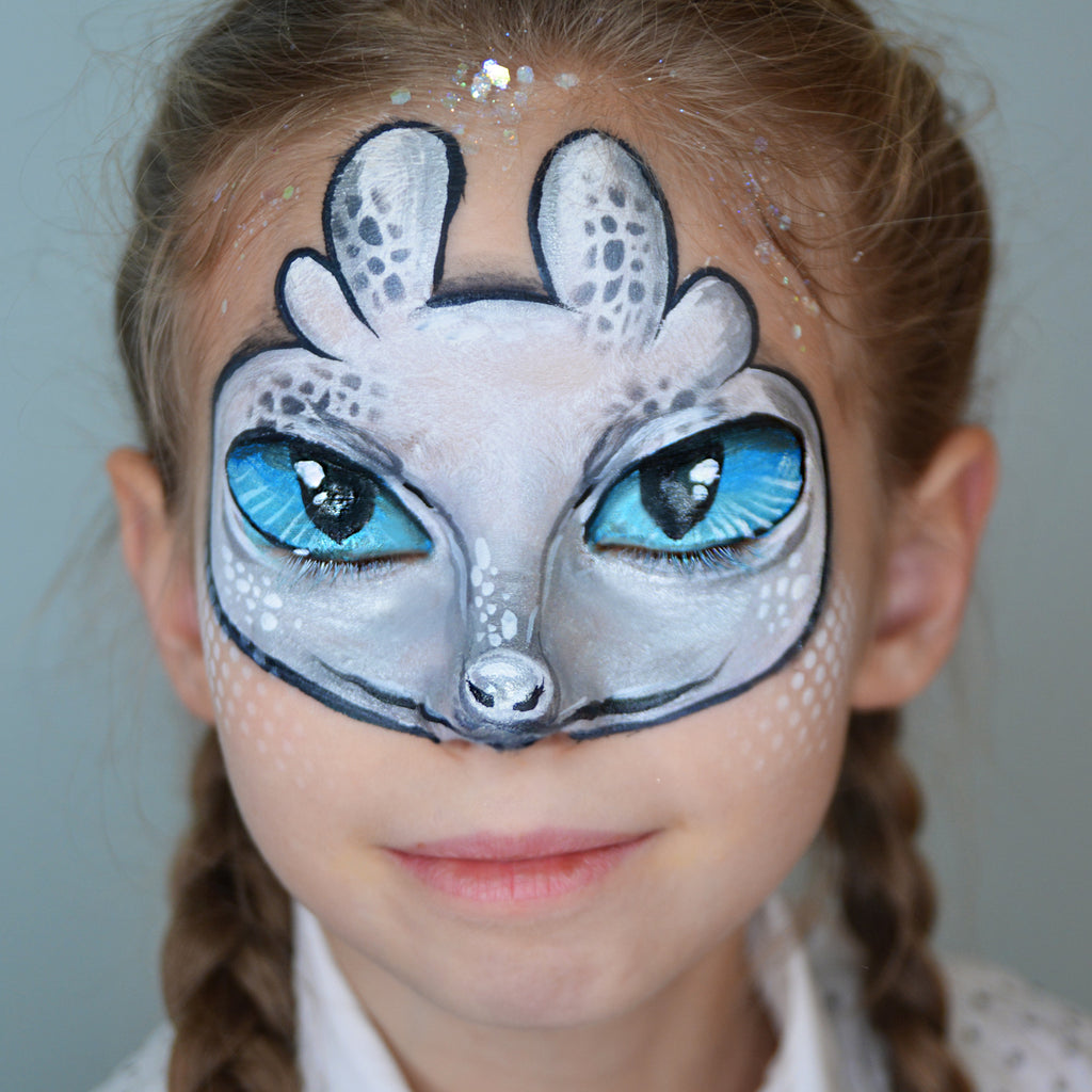 Light Fury Mask Face Paint by Natalia Kirillova