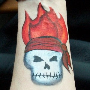 Flaming pirate skull tutorial