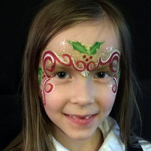 Holly Fairy Mask Tutorial for Face Painting