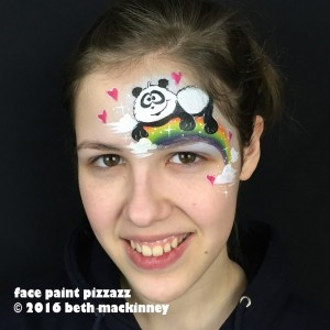 Tutorial: Cartoon Panda With Rainbow & Hearts