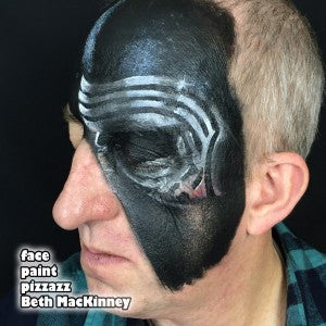 Tutorial: Villain Face Paint for Kylo Ren Fans