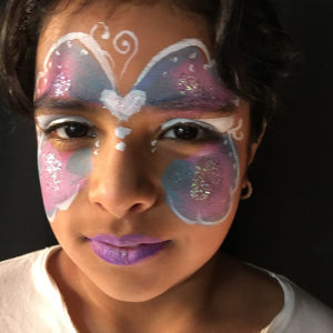 Split Cake Butterfly Face Paint Design Tutorial by Kiki
