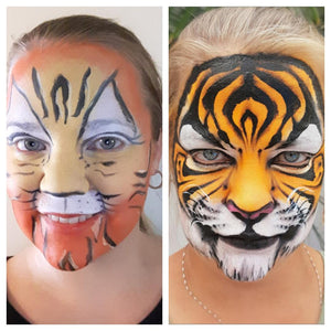 "Facepainting ""Then and Now!"" Linnéa Önnerby Novak´s Progress Video"
