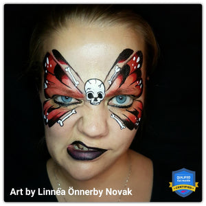Pirate Butterfly Face Paint by Linnéa