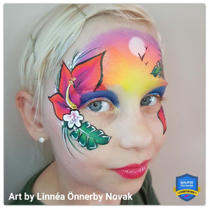 Tropical Girl Face Paint by Linnéa