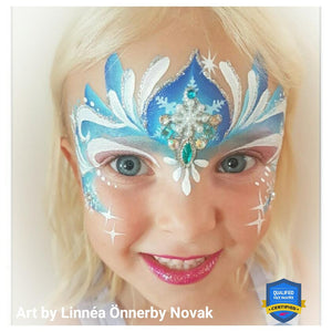Ice Princess Face Paint by Linnéa