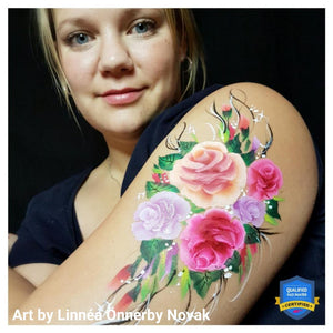 One Stroke Rose Bouquet Video by Linnéa