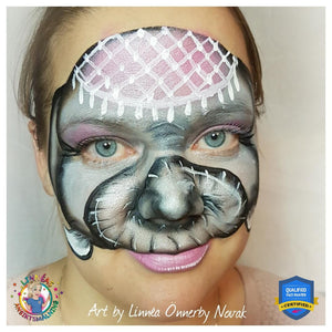 Circus Elephant Face Paint Video by Linnéa Önnerby Novak