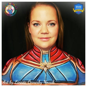 Captain Marvel Decolletage Painting Video by Linnéa Önnerby Novak