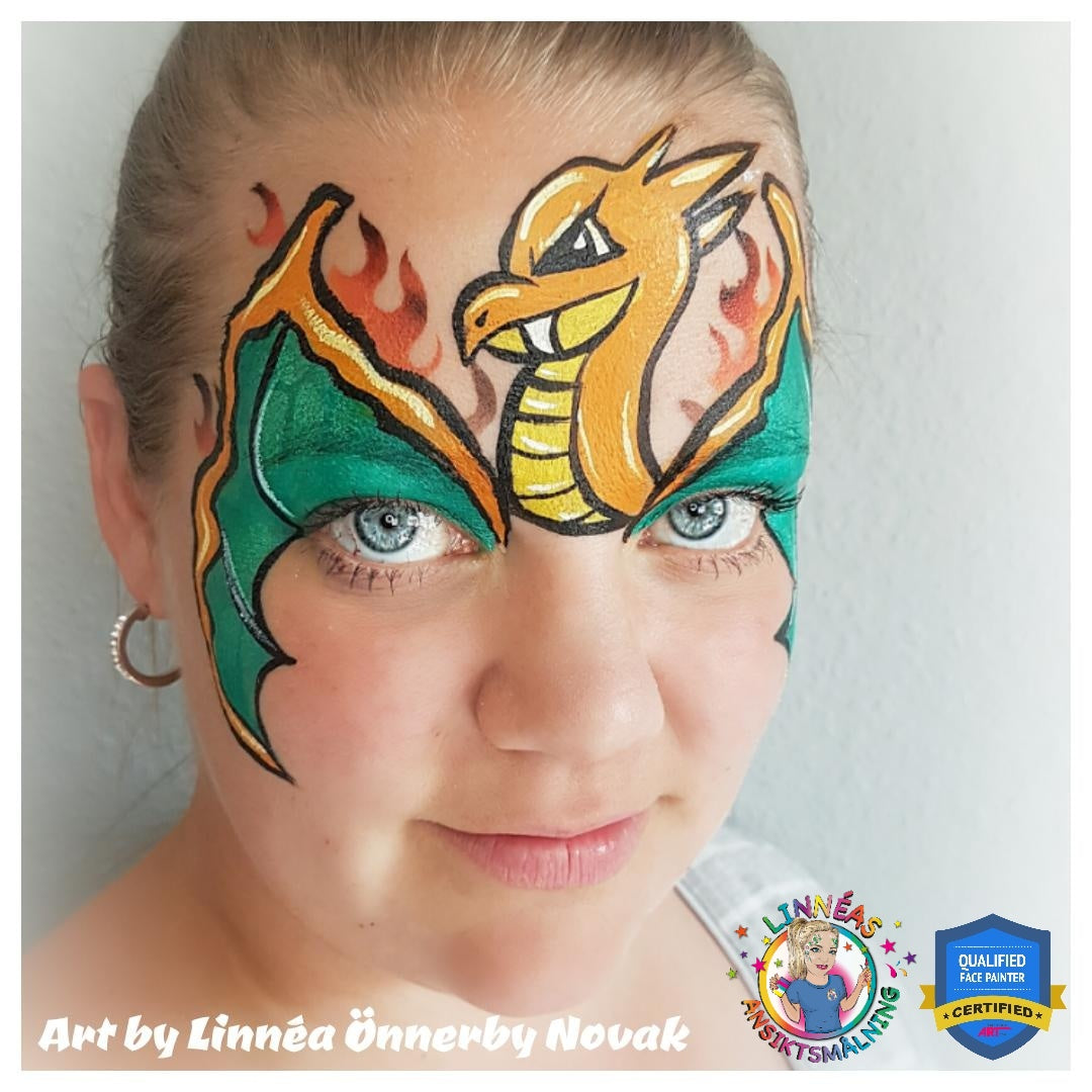 "Pokémon ""Charizard"" Face Paint Video by Linnéa Önnerby Novak"