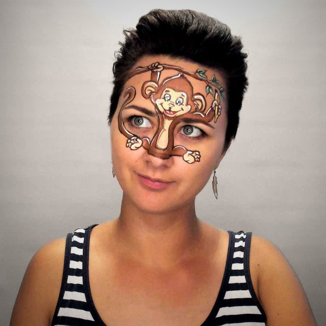 Video: Monkey Nose Face Paint Design by Helene Rantzau
