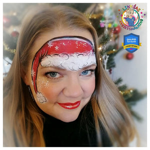 Santa's Hat Face Paint Design by Linnéa Önnerby Novak