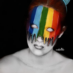Rainbow Face Paint Video by Ana Cedoviste