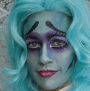 Corpse Bride Face Paint Design Video Tutorial by Athena Zhe