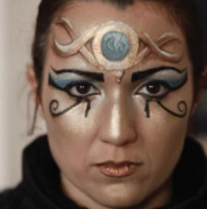 Cleopatra Face Paint Design Tutorial Video by Athena Zhe