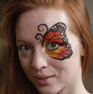 Butterfly Eye Face Paint Video Tutorial by Athena Zhe