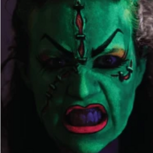 Female Frankenstein Face Paint Design Video Tutorial by Athena Zhe