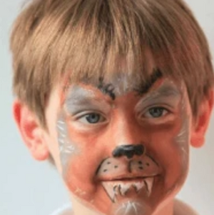 Easy Werewolf Face Paint Video Tutorial by Kiki