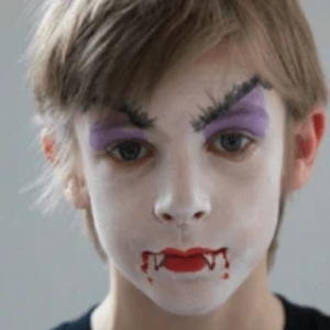 Easy Vampire Face Paint Video Tutorial by Kiki