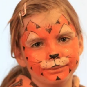 Easy Tiger Face Paint Video Tutorial by Kiki
