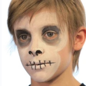 Easy Skull Face Paint Video Tutorial by Kiki