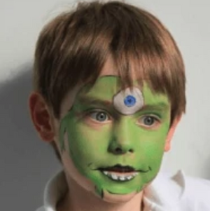 Easy Monster Face Paint Video Tutorial by Kiki