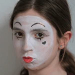 Easy Mime Face Paint Video Tutorial by Kiki
