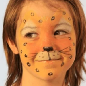 Easy Leopard Face Paint Video Tutorial by Kiki